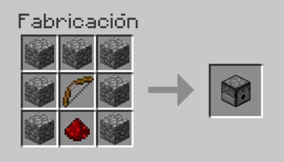 Como hacer un dispensador de Minecraft
