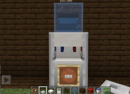 dispensador de agua de Minecraft